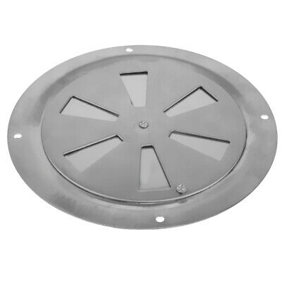 316 STAINLESS STEEL BUTTERFLY VENT 150MM DIAMETER ROUND LOUVRED AIR VENT