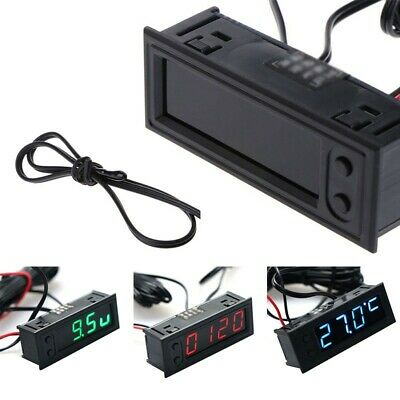 Multifunction Car Clock Battery Voltage Monito DC 12V DIY 2018 Latest Durable
