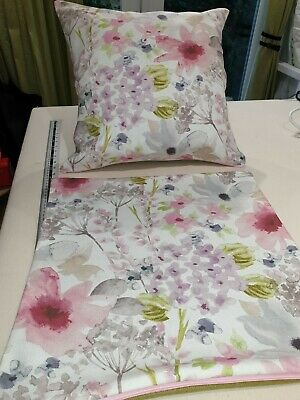 """16 x 16/"""" Cushion Cover Fryetts Felicity Pink Purple Floral"""