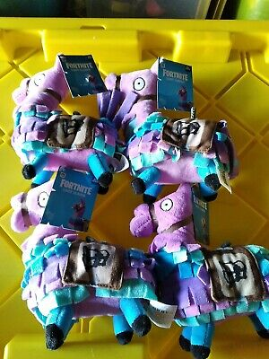 Lot of 4 New w/ Tags Russ Fortnite Loot Llama Small Plush Toy / Epic Games