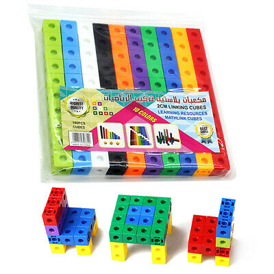 200 Snap Cubes Math Linking Cubes Interlocking Counting Blocks Learning Toys