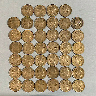 $100 2010 Sealed or Older Box 50 Bank Rolls Jefferson Nickels Circulated Coins