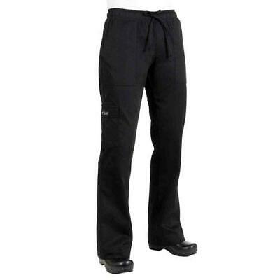 Chef Works - CPWO-BLK-S - Women's Black Cargo Chef Pants (S)