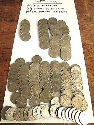 Lot Of 133 Vintage Australian Coins - Estate Lot 2X