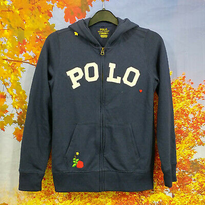 Polo Ralph Lauren blue full zip Hoodie. UK girl's age 12, age 14