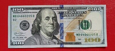 2017 One Hundred Dollar Bill $100 Uncirculated Consecutive Sequential Note
