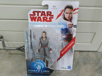 """Fast p/&p New Loose Star Wars Force Link Rey Jedi Training Action Figure 3.75/"""""""