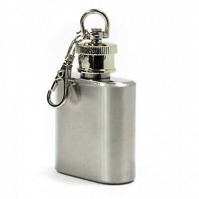 Hot Air Balloons Sky Roads Stainless Steel 1oz Mini Flask Key Chain