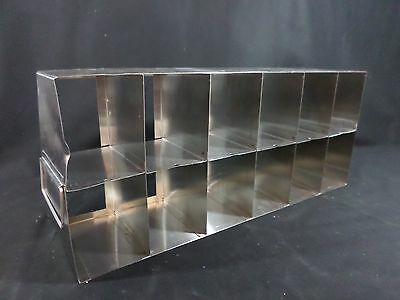 USA SCIENTIFIC Stainless Steel 12-Section Mult Well Plate Upright Freezer Rack B