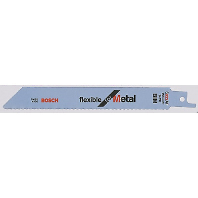 5 Pack S922AF Bosch Sabre Saw Blades Flexible for Metal 150mm x 24tpi Blade