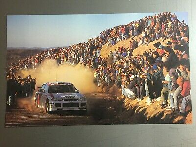 1997 Mitsubishi Lancer Rally Race Car Print Picture Poster RARE!! Awesome L@@K