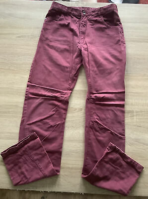 Boys George Burgundy Jeans Age 13-14 - Adjustable Waist