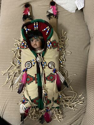 Antique Indian Doll In Carrier