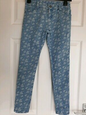 Excellent Condition Denim& Co Floral Print Jeans Age 9-10 Years