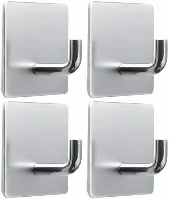 nuoshen 4 Pieces Self Adhesive Hooks, Heavy Duty Towel Wall Sticky Hooks...