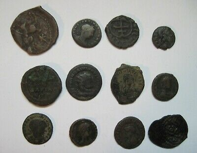 12 Ancient Roman and Byzantine Coins