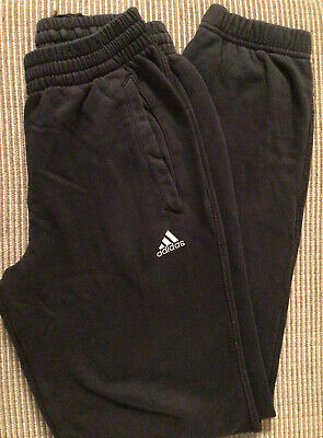 Boys Adidas Black Performance Essentials Jogging Bottoms Age 13-14
