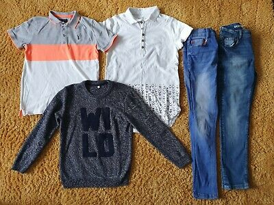 Boys Size Age 10-11 Years Next Skinny Jeans, Polo Tops, M&S Jumper Bundle B14