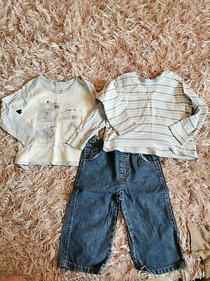 Baby Boys Jeans And 2 Tops 12-18 Months From George
