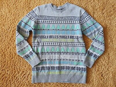 Boys Size Age 11-12 Years Marks & Spencer Grey Christmas Jumper