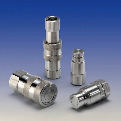 """HSS10F06GV Hydraulic Stainless Steel Flat Face Coupling BSPP Thread 3/8"""" F"""