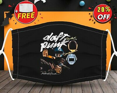 Rock and Roll Daft Punk Logo  Face Mask Reusable Washable With Filter Pocket