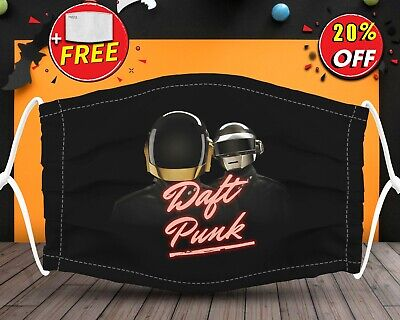 Daft Punk All Characters Logo  Face Mask Reusable Washable With Filter Pocket