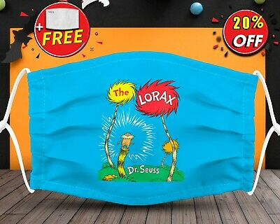 Dr Seuss The Lorax Face Mask Reusable Washable With Filter Pocket