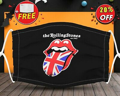 The Rolling Stones Logo Band  Face Mask Reusable Washable With Filter Pocket