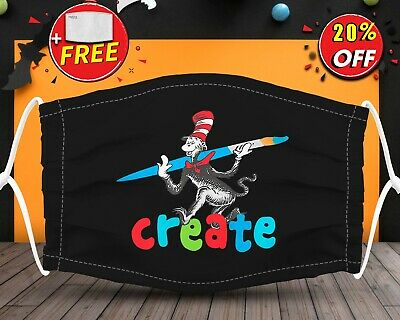 Dr Seuss Create Face Mask Reusable Washable With Filter Pocket