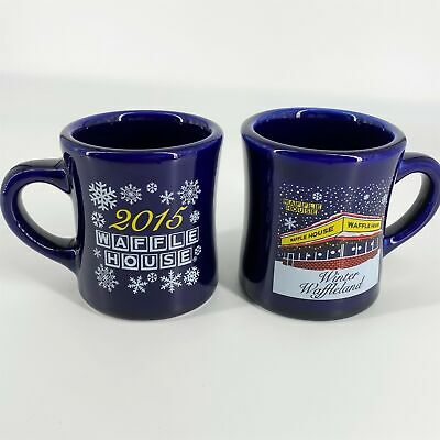 Waffle House 2015 Winter Waffleland Set of 2 Mugs Tuxton