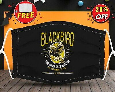 Black Bird For This Moment Arise Face Mask Reusable Washable With Filter Pocket