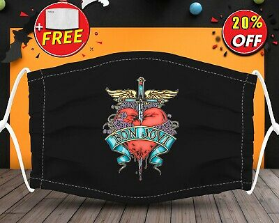 Bon Jovi Rock And Roll Music LoverFace Mask Reusable Washable With Filter Pocket