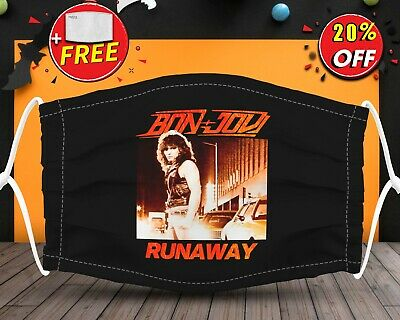 Bon jovi Runaway Roll Music LoverFace Mask Reusable Washable With Filter Pocket