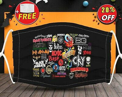 All Character Music Band Lover  Face Mask Reusable Washable With Filter Pocket