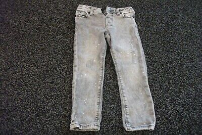 River Island distressed skinny jeans  Age 3 Years. Grey.