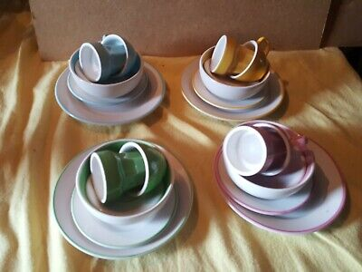 Ikea Child's Coloured Cups And Plates set of 4