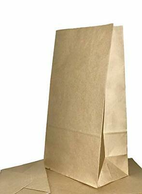 50 Count 11 x 5.9 x 3.5 - Brown paper lunch bags 8lb. capacity. These brown pape