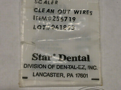 Star Scaler Cleanout wires, for sonic scalers or swivels, #256719