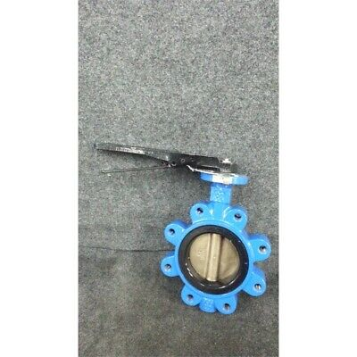 """FNW FNW712B Ductile Iron Buna-N Lever Handle Butterfly Valve 4"""" 200PSI WP No Box"""