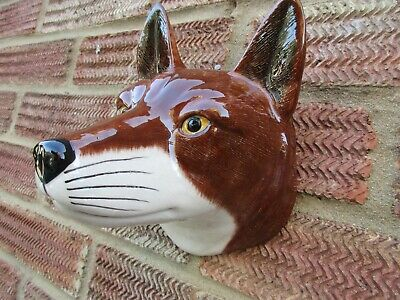 Stunning Ceramic Fox  Wall Vase/Planter By Quail Ceramics Boxed Ideal Gift