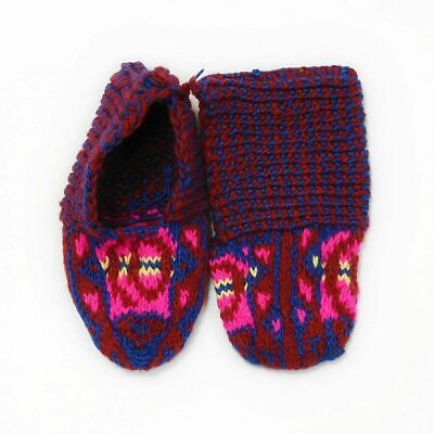 Warm Socks(jurabs) 100% WoolHand Knit Authentic Dagestan Slipper Shoes Colorful
