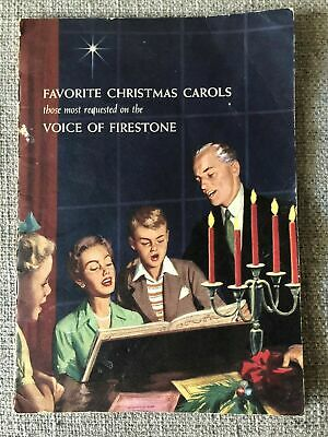 Favorite Christmas Carols Booklet ~ 1958 Voice of Firestone Radio And Television