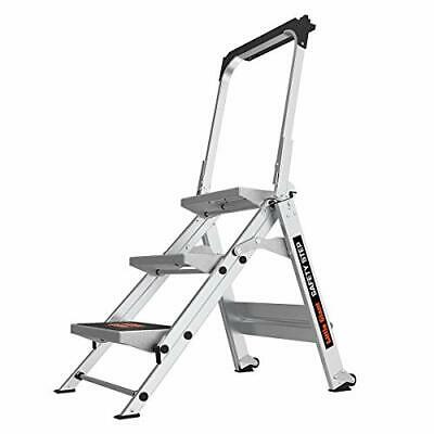 Little Giant Ladders Safety Step 3-Step 3 Foot Step Stool Aluminum Type 1A 30...