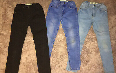 Job Lot Of Boys Skinny Jeans Primark Age 6-7 Years