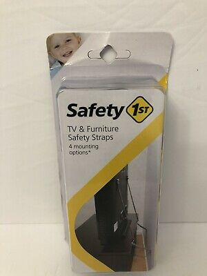 Safety 1st First TV & Furniture Safety Straps w/ 4 Mounting Options