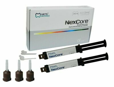 META BIOMED NexCore Dual Cured Core Build up Composite Resin 2x 9GM Dental