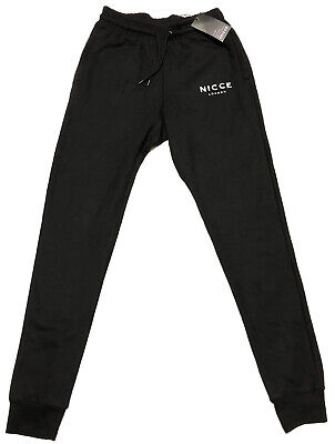 Nicce Men's New Tracksuit Botton Jogger Pants 3-pockets Black Size M RRP £59.00