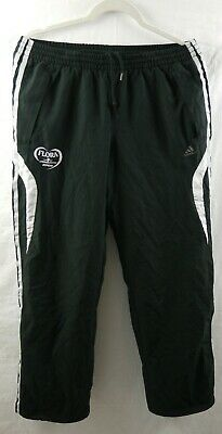 Adidas Flora Staff Black/Grey/White, tracksuit bottoms Size Medium, Free P&P