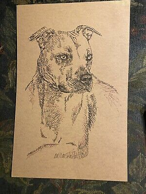 Stephen Kline Lithograph American Pit Bull Terrier, 126/500. 17 Inches X 11.
